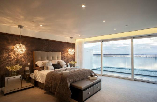 modern master bedrooms Dazzling Modern Master Bedrooms With Landscape Views 12 7