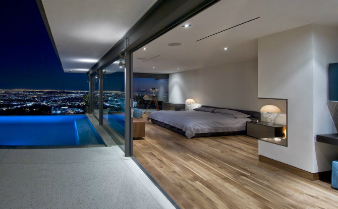 modern master bedrooms Dazzling Modern Master Bedrooms With Landscape Views 19 3
