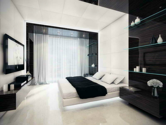 Monochrome Inspiring Bedroom Interiors bedroom interiors Monochrome Inspiring Bedroom Interiors 2 13