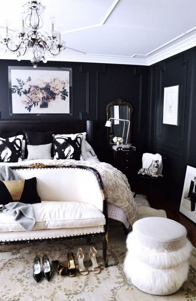 Black design inspiration for a master bedroom decor for Bedroom design inspiration