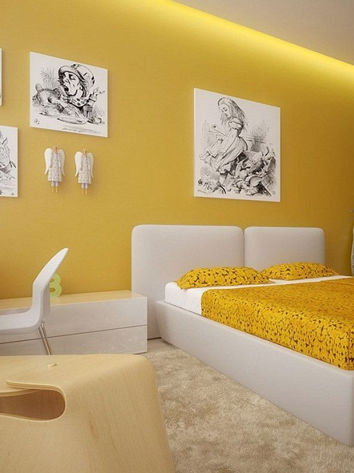 50 Beautiful Bedroom Designs Found on Pinterest beautiful bedroom designs 50 Beautiful Bedroom Designs Found on Pinterest Gorgeous bedroom design in white and yellow 1