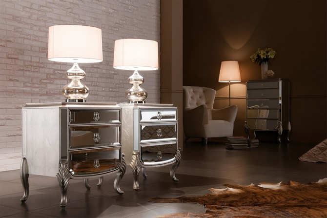 Mirrored Nightstands A Special Touch For Your Master Bedroom Master Bedroom Ideas