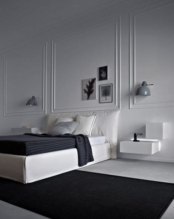 50 Beautiful Bedroom Designs Found on Pinterest beautiful bedroom designs 50 Beautiful Bedroom Designs Found on Pinterest Sharp grey and white master bedroom with simple lines 1