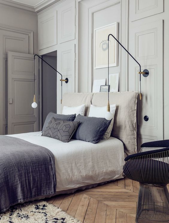 50 Beautiful Bedroom Designs Found on Pinterest beautiful bedroom designs 50 Beautiful Bedroom Designs Found on Pinterest Sharp mid century pendant lamps combining with grey textiles on this master bedroom 1