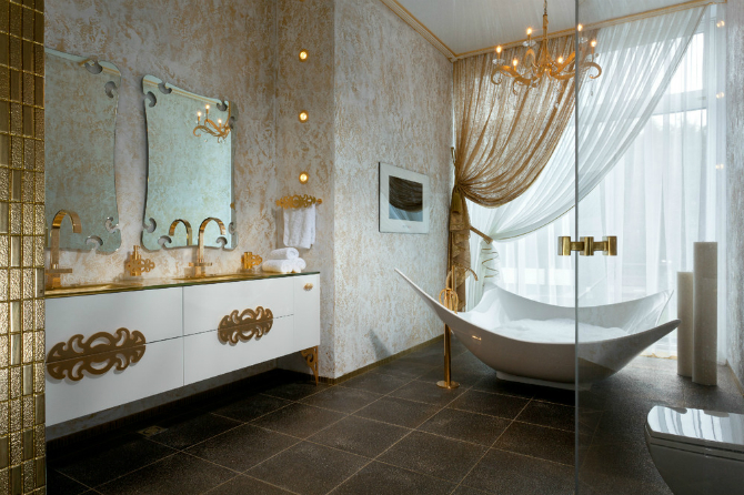 Master Bathroom Designs for the Perfect Bedroom Interior Master Bathroom Designs Master Bathroom Designs for the Perfect Bedroom Interior 33 Gold white bathroom decor