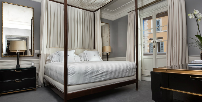 master bedrooms Brilliant Master Bedrooms in Italian Hotels J