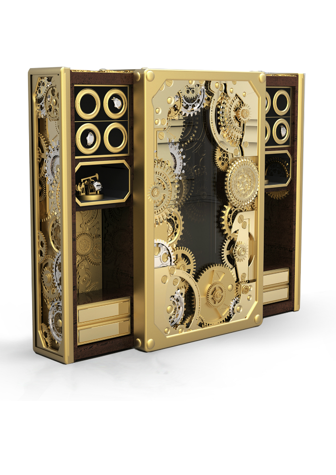 Timeless Luxury Safes For The Modern Bedroom modern bedroom Timeless Luxury Safes For The Modern Bedroom baron gold luxury safe 1