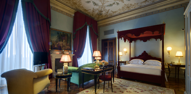 Brilliant Master Bedrooms in Italian Hotels for iSaloni 2016 master bedrooms Brilliant Master Bedrooms in Italian Hotels imperial suite by Villacora Hotel