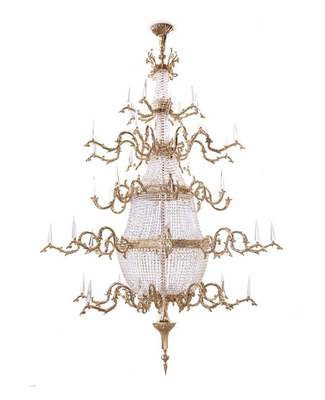Bedroom Chandeliers The Epitome of Bedroom Chandeliers Elegance theatre chandelier by Luxxu