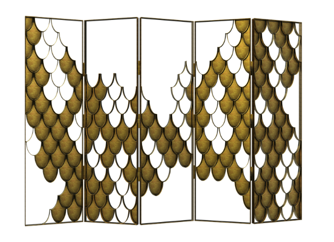 Folding Screen: Jewelry for the Luxury Bedroom luxury bedroom Folding Screen: Jewelry for the Luxury Bedroom 7 Koi BB