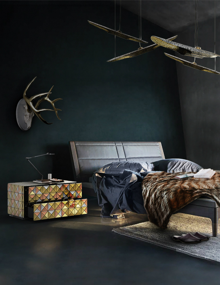 black bedrooms Stylish Black Bedrooms with Goth Glamour 7 4