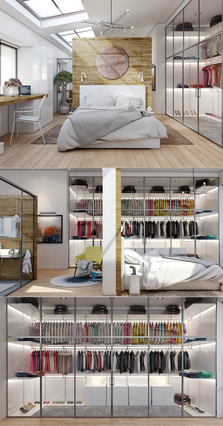 1 wardrobes 10 Good-Looking Examples Of Bedrooms With Attached Wardrobes 1 33