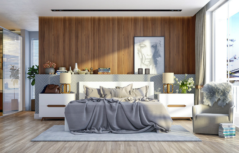 5 bedroom set 6 Steps To Make A Statement With Wood Walls In The Bedroom Set 5 24