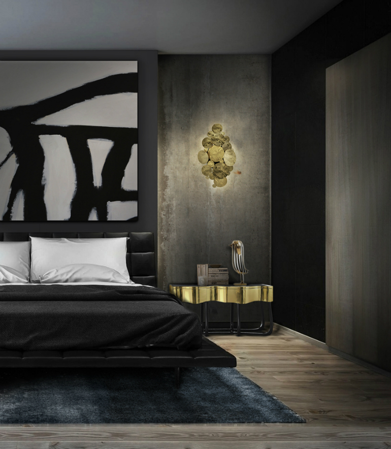 5 black bedrooms Lavish Black Bedrooms for Gothic-Inspired Homes 5 25