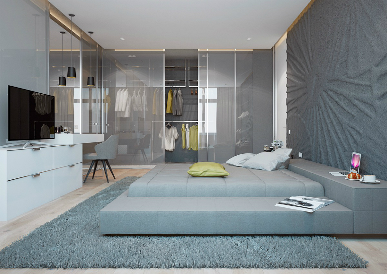 10 Good-Looking Examples Of Bedrooms With Attached Wardrobes wardrobes 10 Good-Looking Examples Of Bedrooms With Attached Wardrobes 9 2