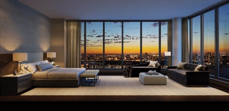 master bedroom 10 Manhattan Master Bedrooms with Stunning Views 6 15 4