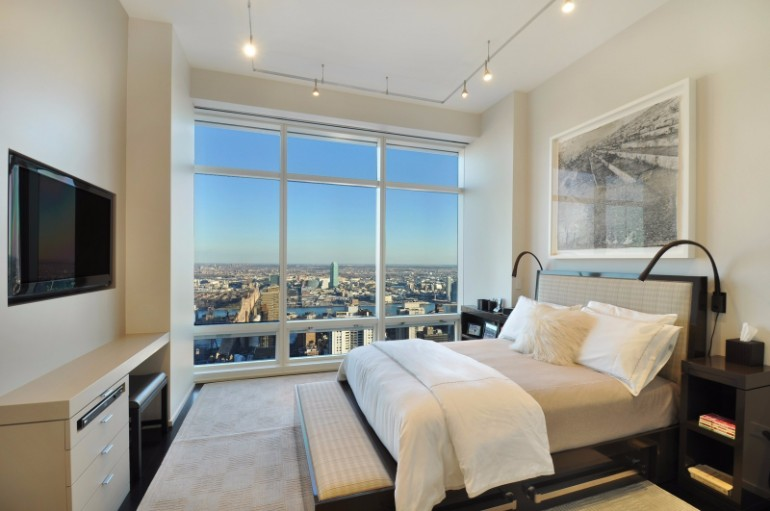 master bedroom 10 Manhattan Master Bedrooms with Stunning Views Apartment Renovation in Manhattan by Suzanne Lovell 6