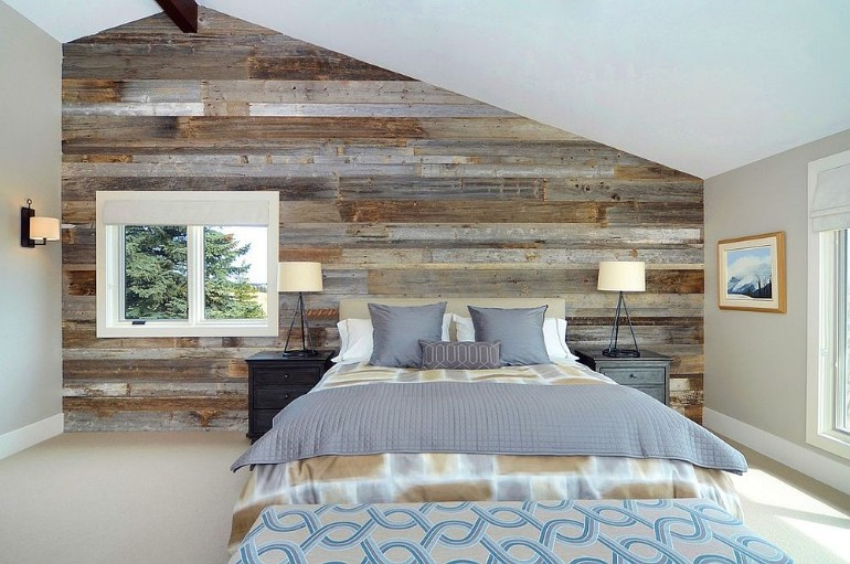 master bedrooms design master bedrooms Trend Alert: Master Bedrooms with Reclaimed Wood Walls Bruce Johnson Associates Interior design