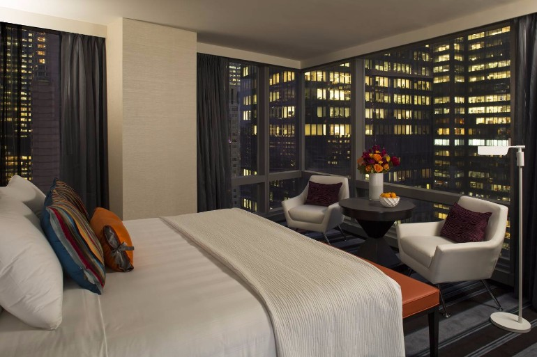 master bedroom 10 Manhattan Master Bedrooms with Stunning Views Courtyard New York Manhattan Central Park NY 2017