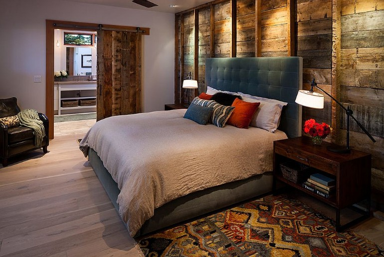 master bedrooms design master bedrooms Trend Alert: Master Bedrooms with Reclaimed Wood Walls Dovetail Construction