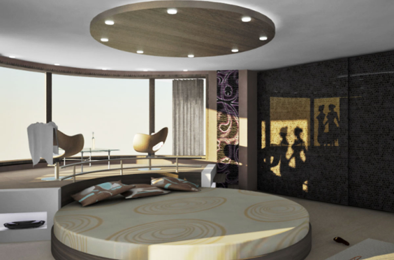 master bedroom 13 Master Bedroom Designs Straight From the Future Okrugli kreveti5