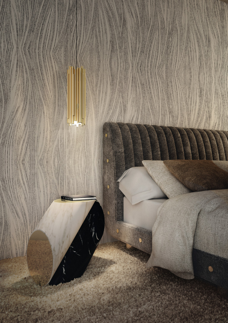 2017 trends 2017 Trends for a Striking Masterbedroom delightfull brubeck pendant lamp ambience
