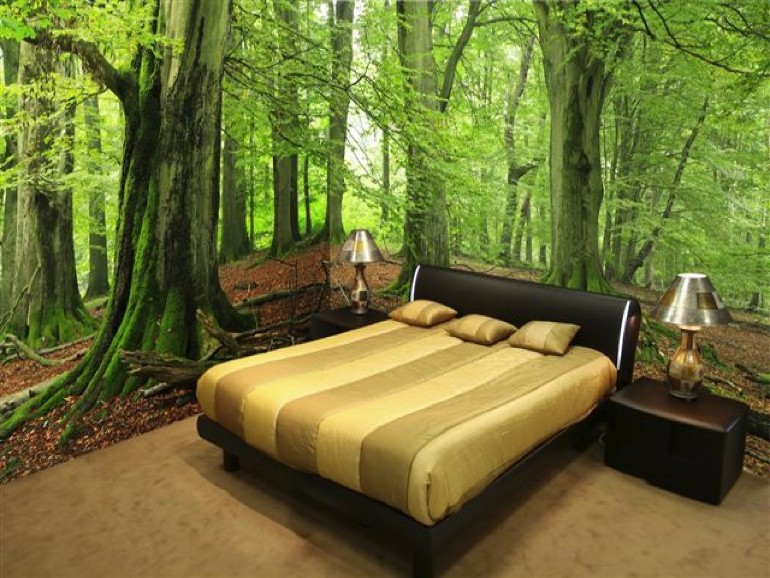 master bedroom Whimsical Master Bedrooms with Forest Wallpaper forest wall mural wall murals nature 13777062138cd471
