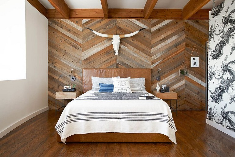 master bedrooms Trend Alert: Master Bedrooms with Reclaimed Wood Walls studiorevolution