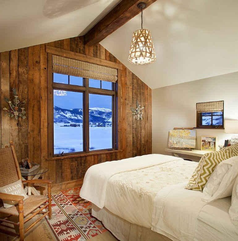 master bedroom log  master bedrooms Trend Alert: Master Bedrooms with Reclaimed Wood Walls sunlitarchitecture