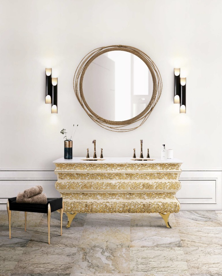 master bathroom Glaring Master Bathrooms for the Contemporary Home 17 crochet washbasin galliano wall lamp maison valentina 1 HR 1