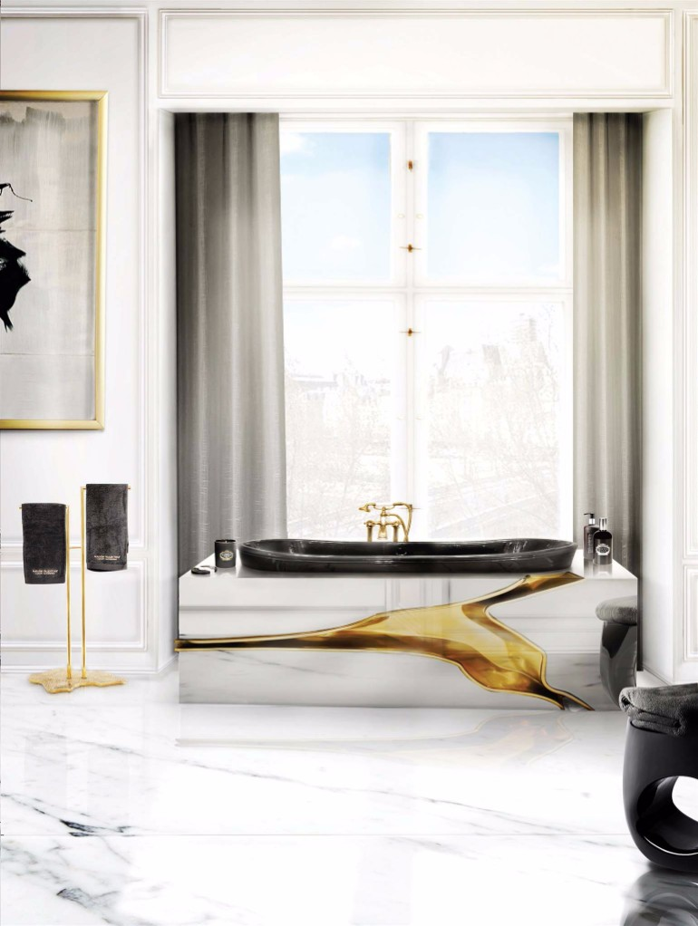 master bathroom Glaring Master Bathrooms for the Contemporary Home 18 lapiaz bathtub eden towel rack erosion stool maison valentina HR