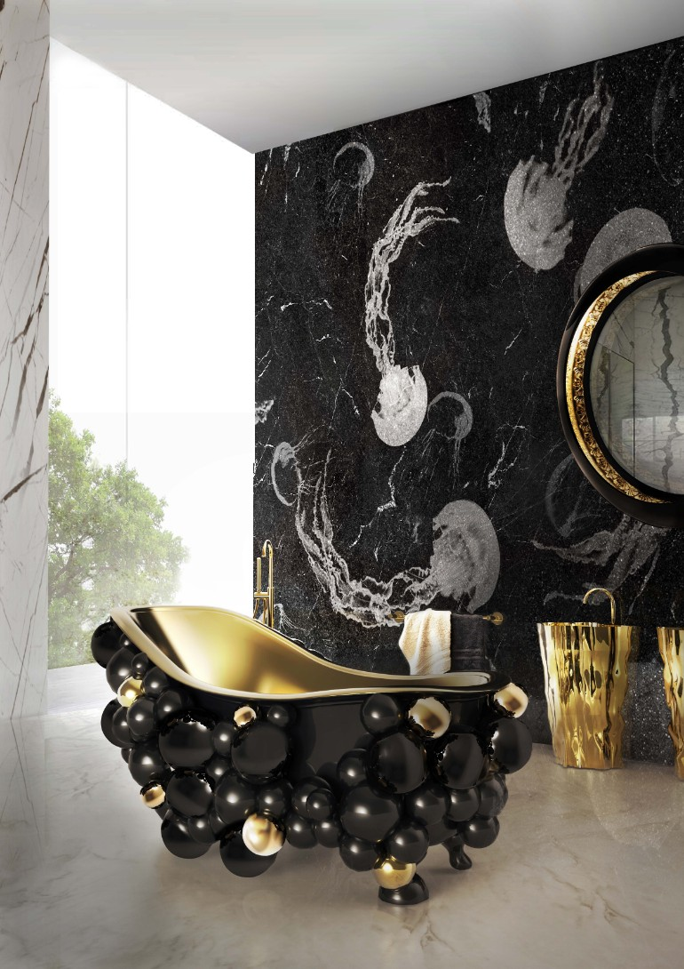 master bathroom Glaring Master Bathrooms for the Contemporary Home 2 newton bathtubs maison valentina HR