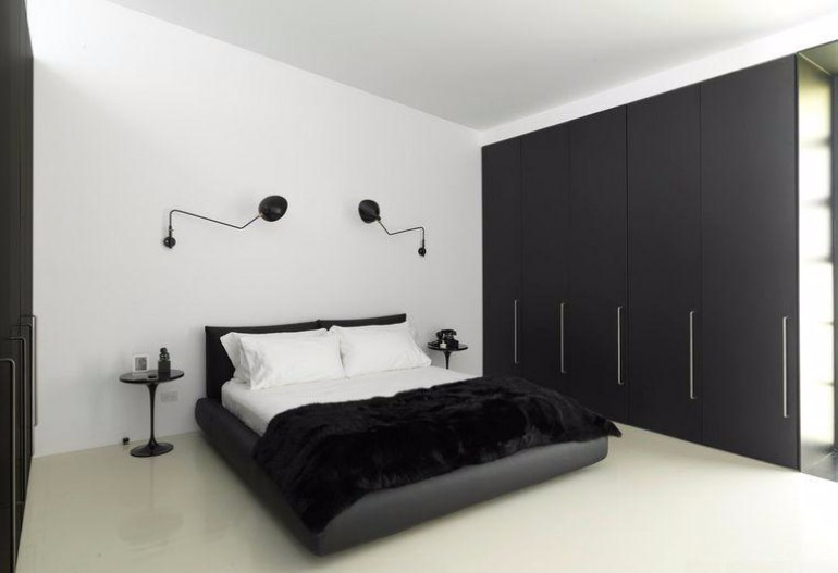black and white bedroom design  Black and White Bedroom Sleek and Modern Black and White Bedroom Ideas 2260