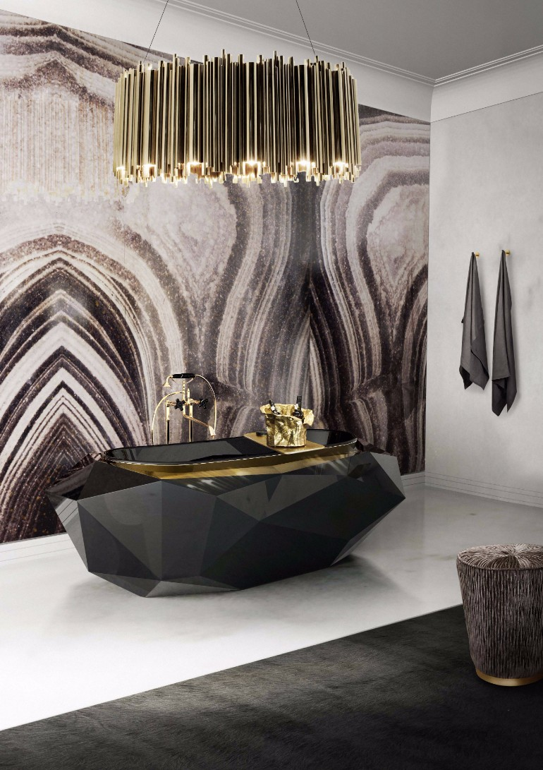 master bathroom Glaring Master Bathrooms for the Contemporary Home 9 diamond bathtub matheny suspension maison valentina HR