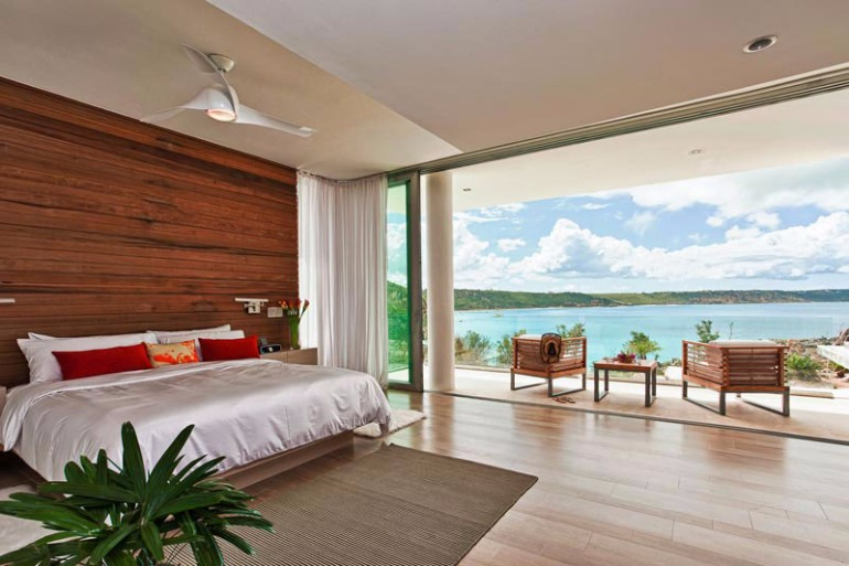 ocean view 50 Dazzling Master Bedrooms With An Ocean View Ani Estate Luxury Villa Comfort Bedroom with Patio and Sea View