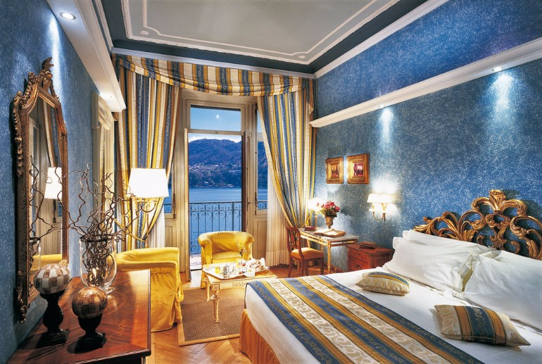luxury hotel italy luxury hotel Top 10 Bedrooms of Italian Luxury Hotels Grand Hotel Tremezzo Lake Cuomo Italy