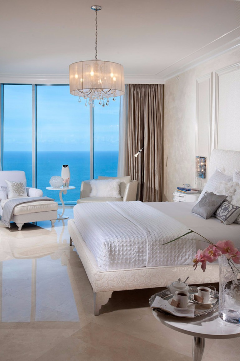ocean view 50 Dazzling Master Bedrooms With An Ocean View How To Light Your Home With Lamps10