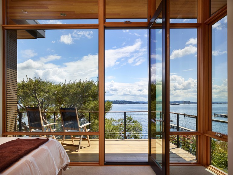 balconies Be inspired by these Master Bedrooms With Mesmerizing Balconies The Courtyard House Is A Contemporary Residence In Seattle By DeForest Architects 2 1