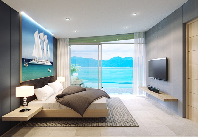 ocean view 50 Dazzling Master Bedrooms With An Ocean View Two Bedroom Sea View Villa Koh Samui Property Koh Samui Villa 1