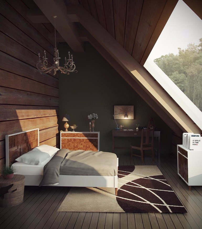 attic bedroom 12 Masterfully Decorated Attic Bedrooms attic bedroom master bedroom design attic 1