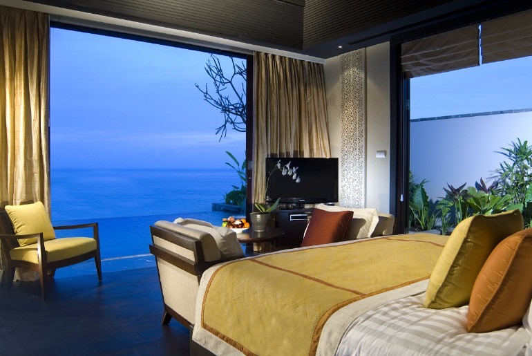 ocean view 50 Dazzling Master Bedrooms With An Ocean View banyantree ungasan bali 005 bedroom ocean villa
