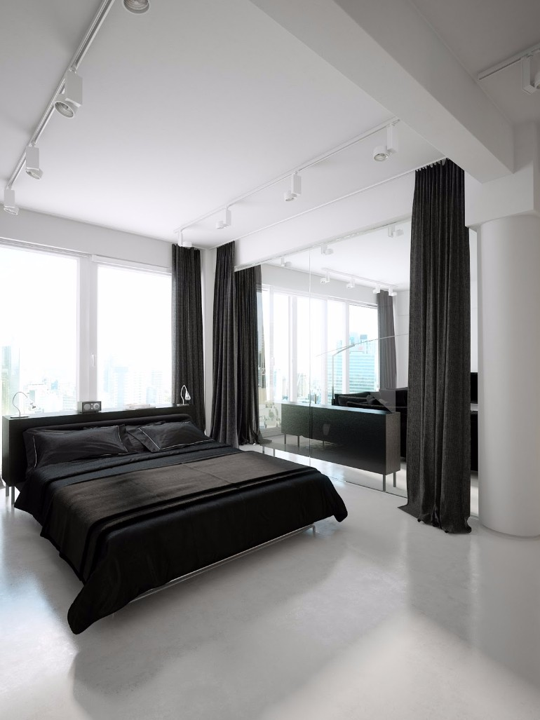 modern bedroom design with black and white | Sleek and Modern Black and White Bedroom Ideas – Master ...