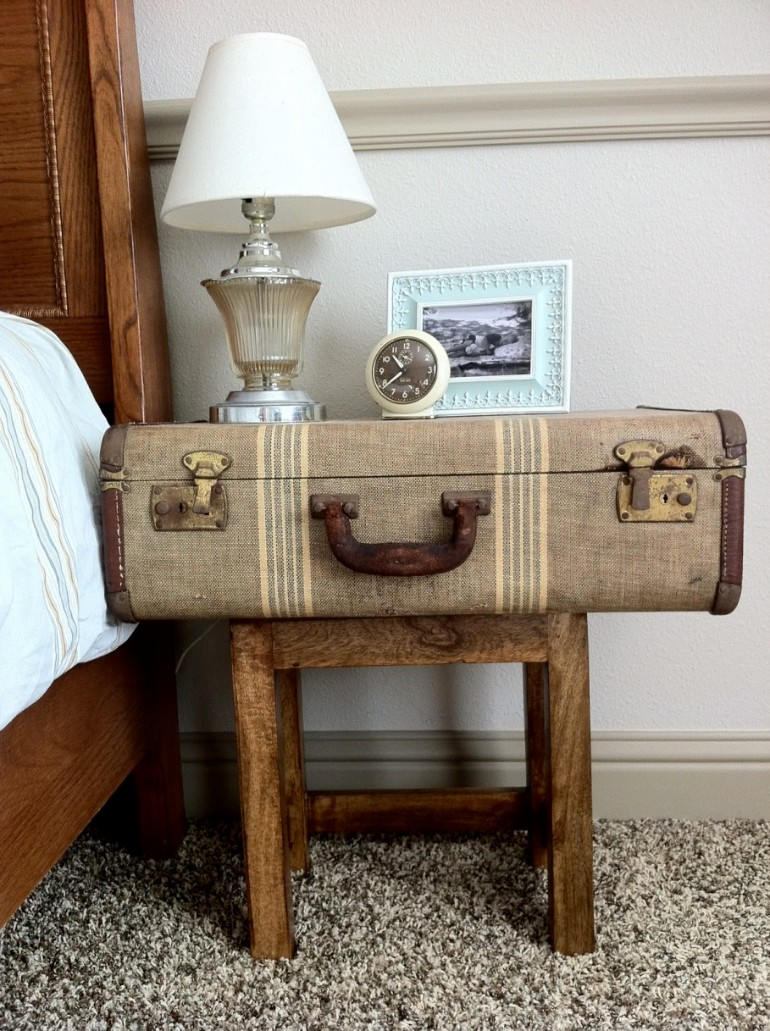 nightstands Surprising items re-purposed as innovative Nightstands chest bedside table