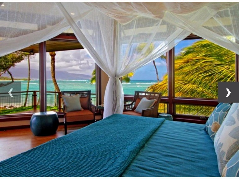 ocean view 50 Dazzling Master Bedrooms With An Ocean View cozy tropical beach bedroom ideas