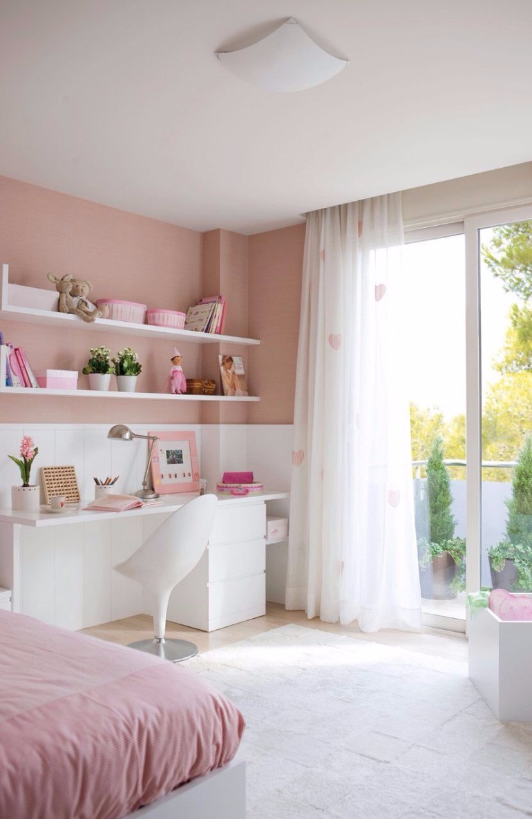 light pink design tones bedroom teen girl bedroom 10 Teen Girl Bedrooms Every Girl Would Wish For img 0151