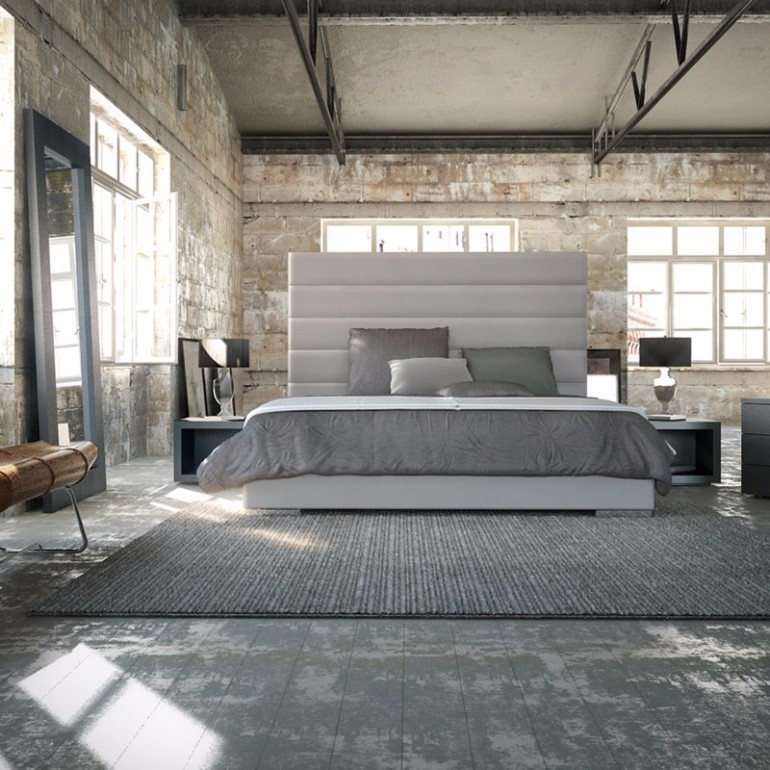 gray bedroom design industrial bedroom 10 Phenomenal Industrial Bedroom Designs industrial bedroom design gray master bedroom