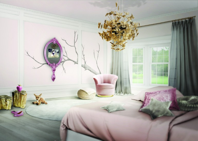 Colour Ideas Colour Ideas for Vivacious Bedroom Design magical mirror circu 1
