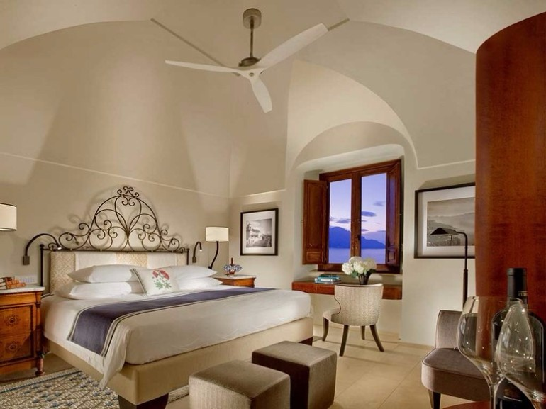 luxury hotel Top 10 Bedrooms of Italian Luxury Hotels monastero santa rosa conca dei marini Amalfi Italy