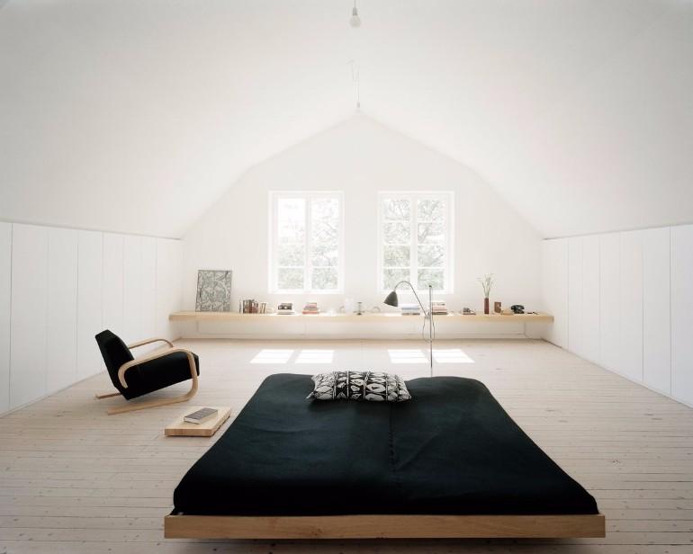 Black and White Bedroom Sleek and Modern Black and White Bedroom Ideas white French windows black and white room ideas
