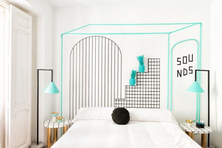 top interior designers Bedrooms by Top Interior Designers: Masquespacio 013 MasquespacioInteriorDesignHostelValencia Highres